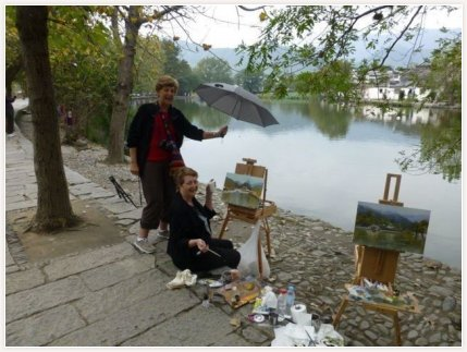 Paint China Tours 2012 with my sister Bon